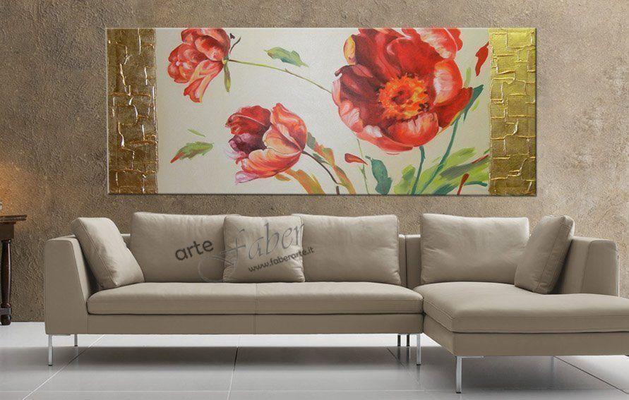 quadri moderni, quadri floreali, quadri tulipani