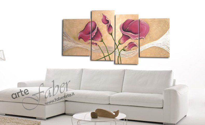 Quadro floreale magia faber arte for Dipingere quadri moderni