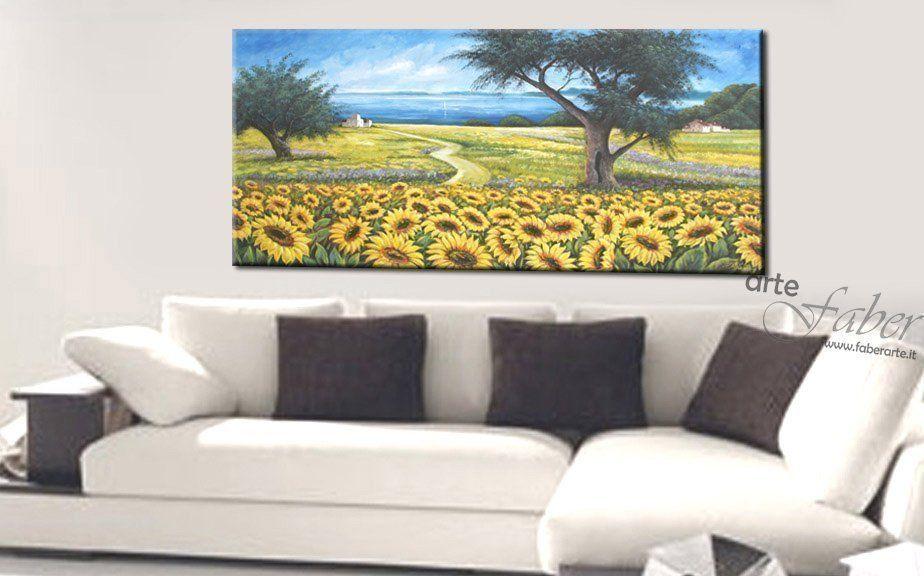 quadri moderni girasoli