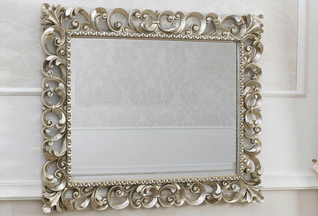 Specchiera traforata argento