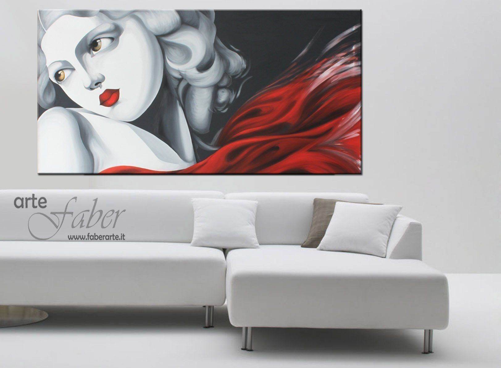 Quadri moderi dipinti donne