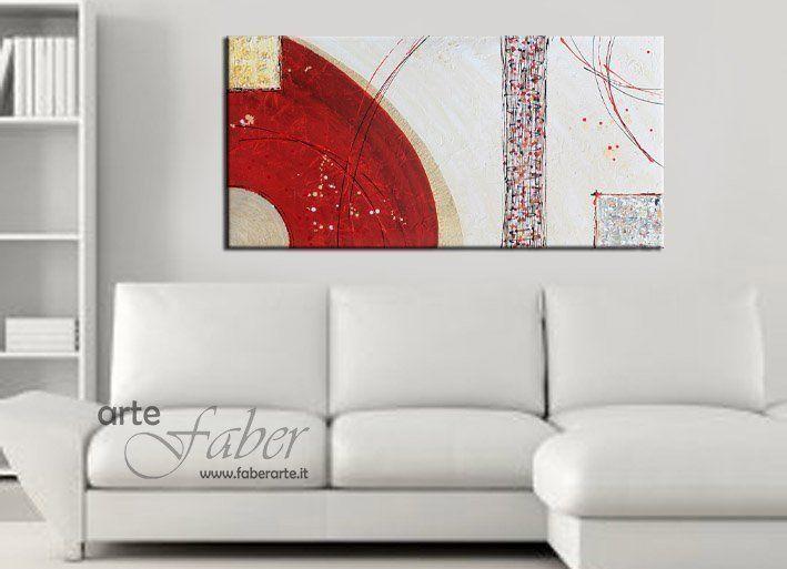 Quadro astratto materico dipinto a mano su tela - Dipinti camera da letto ...