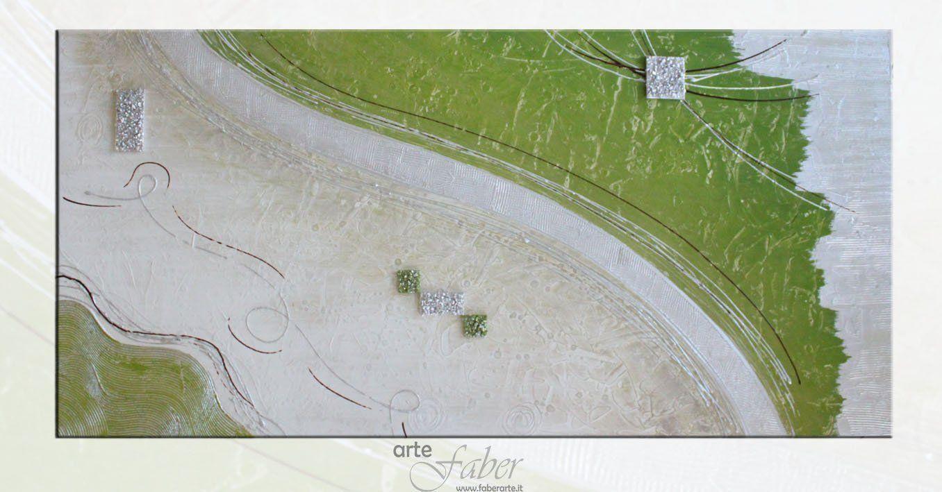 quadri astratti verdi