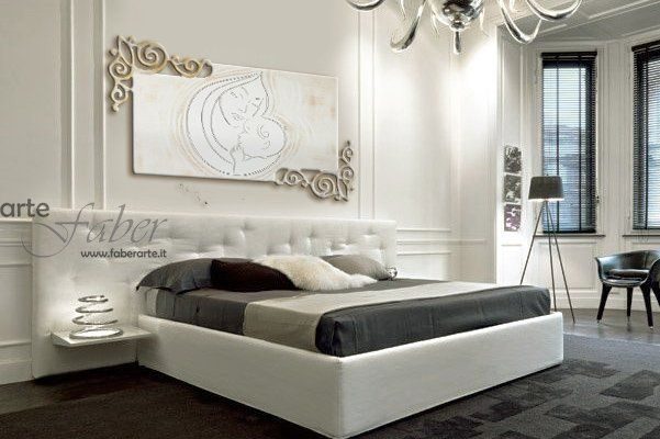 Capezzale moderno laser life faber arte - Dipinti camera da letto ...