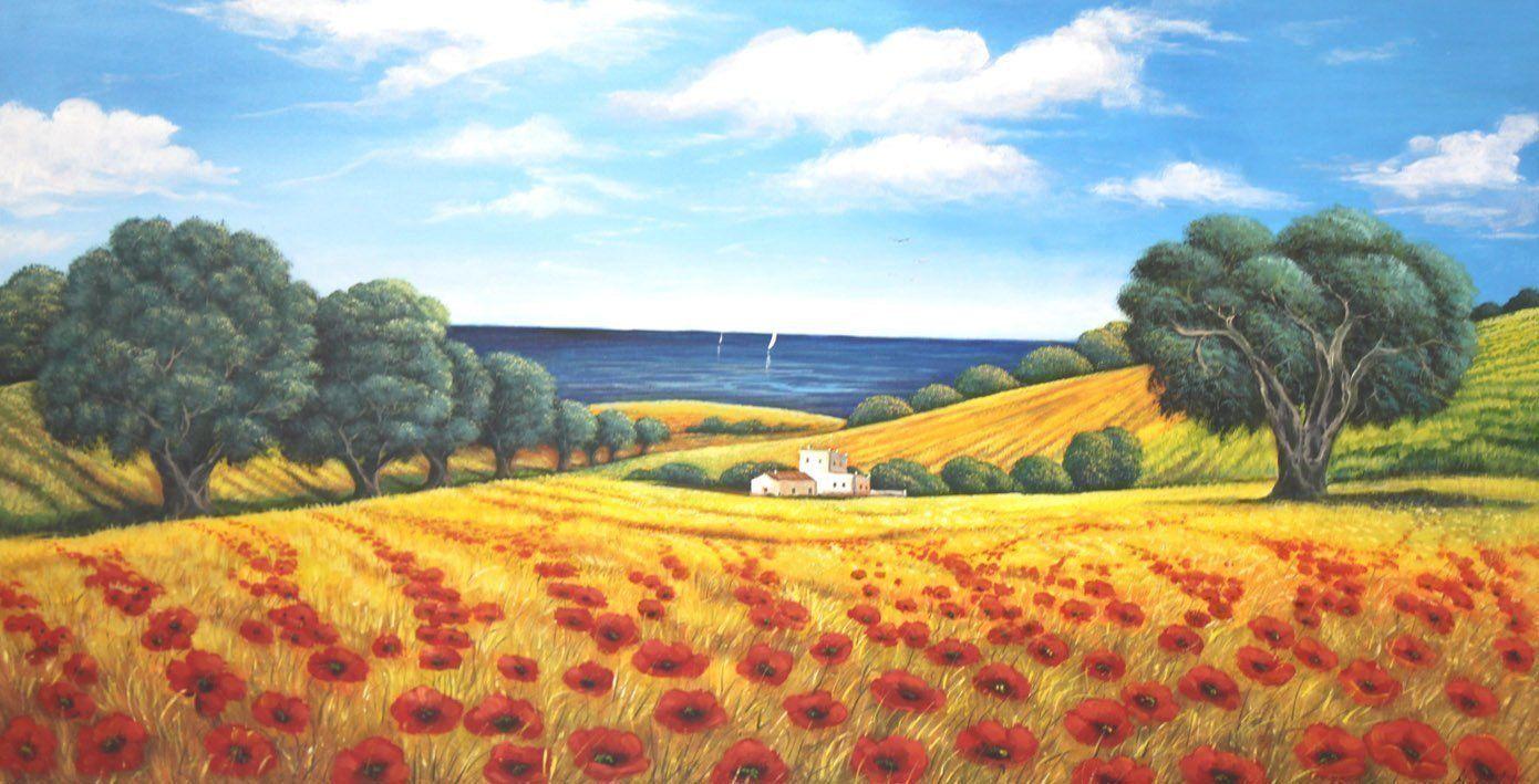 Quadri Classici Per Arredamento campo di primavera - quadri dipinti