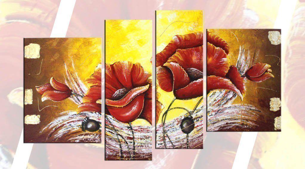 papaveri-quadro-4-pezzi.jpg | Faber Arte