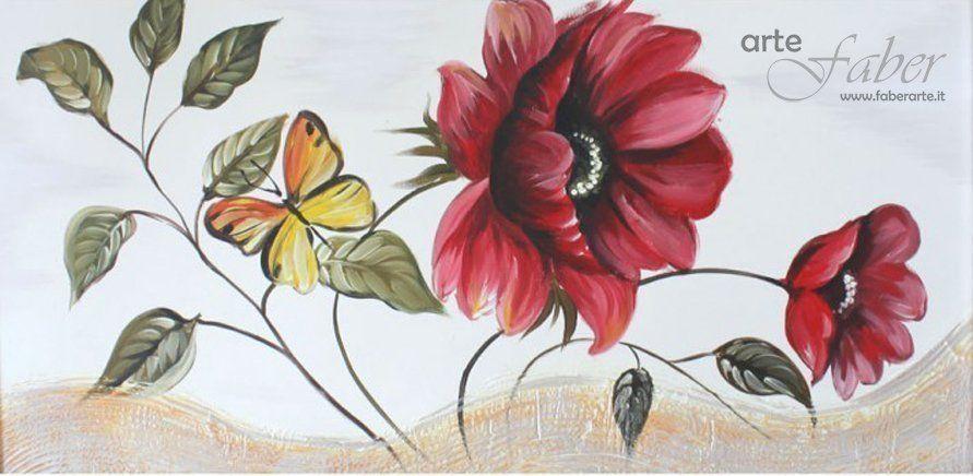 Quadri moderni dipinti fiori | Faber Arte
