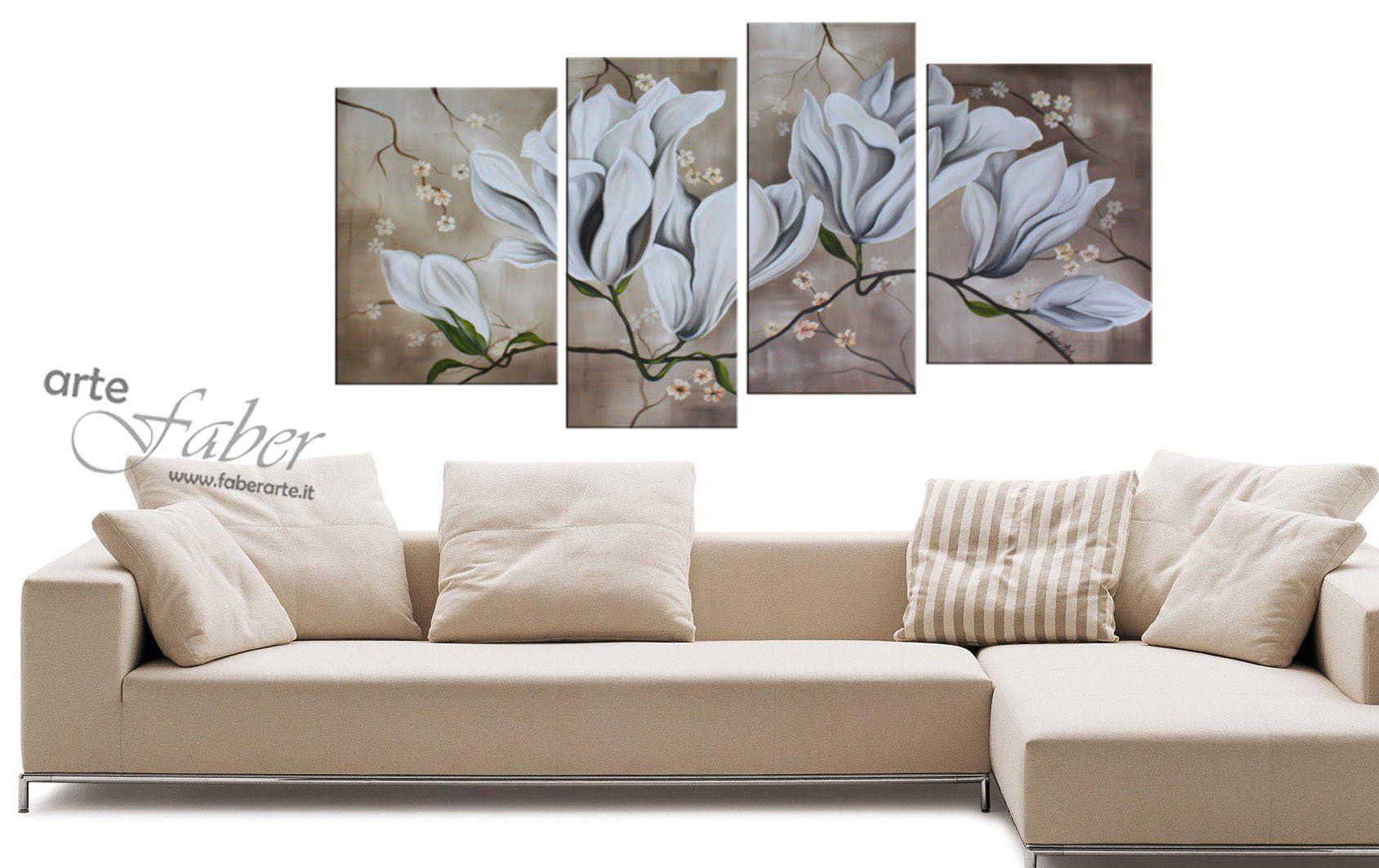 """Quadri Classici Per Arredamento quadri moderni """"ramo di magnolia"""""""