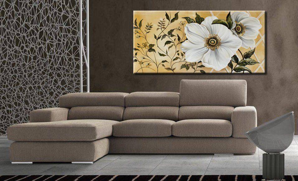 Quadri moderni fiori bianchi | FaberArte