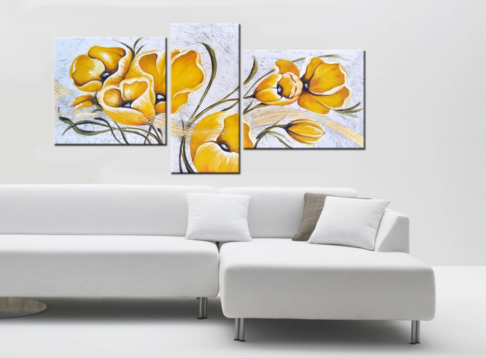 Fiori Quadri Moderni.Quadri Moderni Fiori Yellow Faber Arte