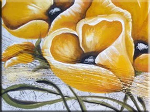 Quadri Fiori Gialli.Quadri Moderni Fiori Yellow Faber Arte
