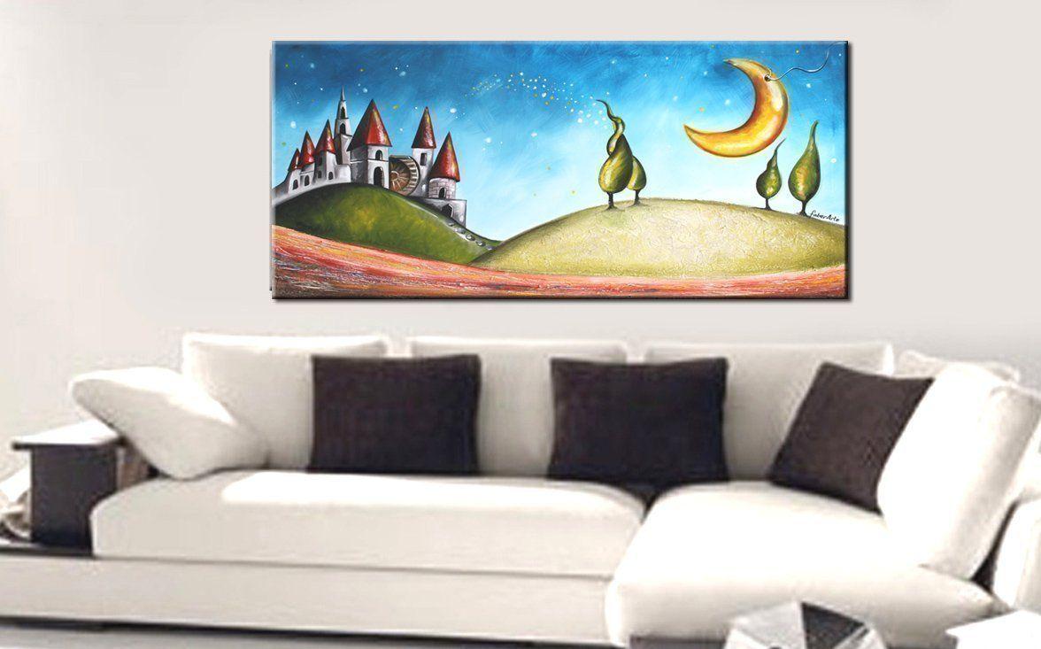 Quadri moderni, dipinti moderni, quadri paesaggi colorati