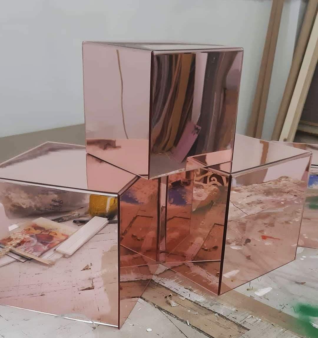 Cubi specchio rosè
