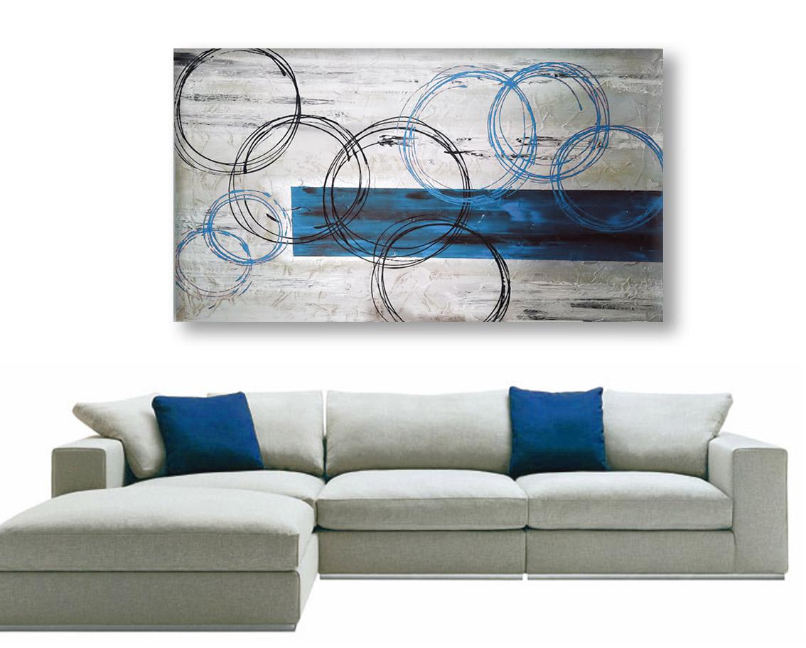 quadri astratti blu azzurri