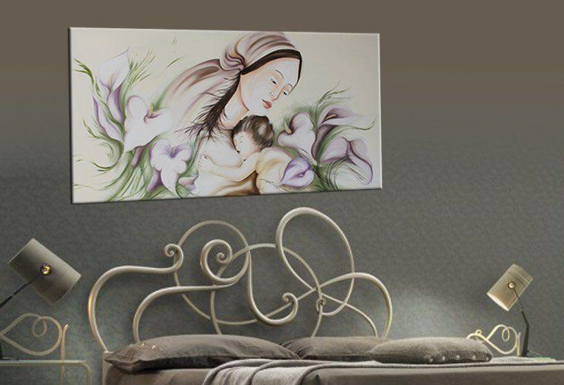 Capezzali moderni, capezzali stilizzati, quadri moderni letto