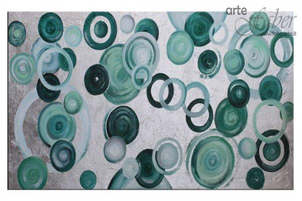 quadri moderni, quadri colorati, quadri astratti verde