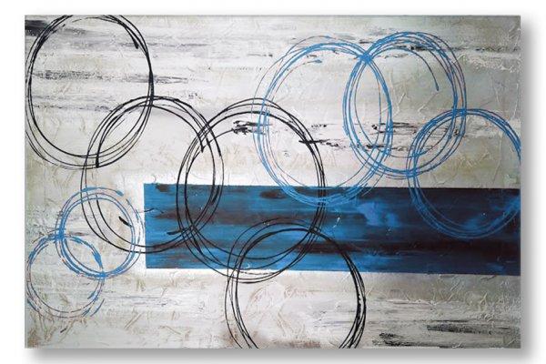 quadri moderni blu azzurri