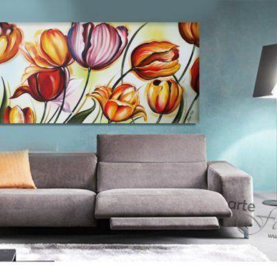 """Quadro moderno fiori """"Fantasia di colori"""""""