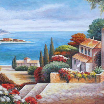 """Quadro paesaggio """"Vista mare"""" COD 305"""