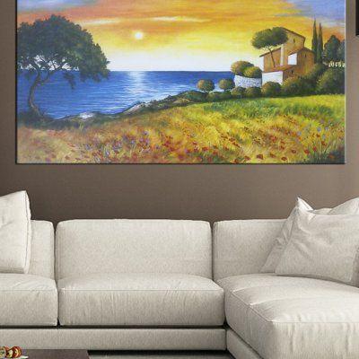 """Quadro paesaggio """"Tramonto sul mare"""""""