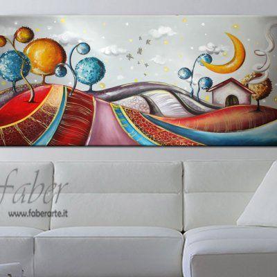 """Quadri moderni dipinti """"Immaginario Notturno"""""""