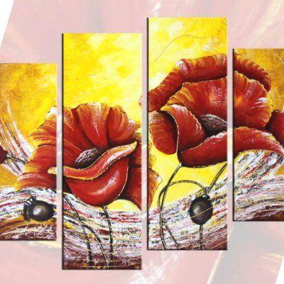 Quadro fiori a pezzi