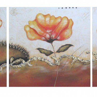 Quadro fiori astratto