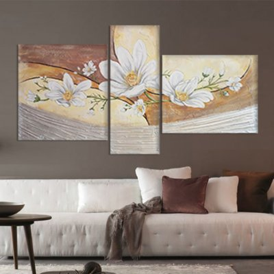 Quadri moderni dipinti floreali