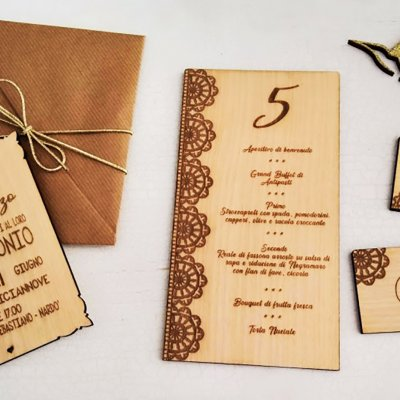 Set legno wedding