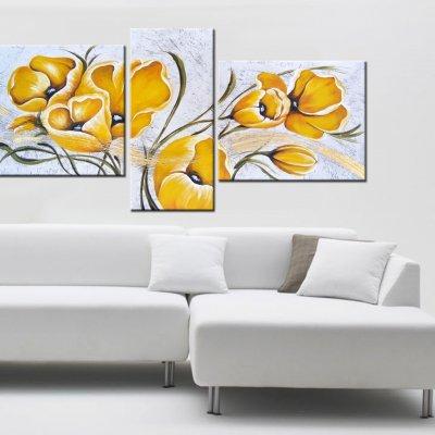 """Quadri moderni fiori """"Yellow"""""""