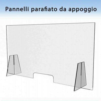 Parafiato in plexiglas trasparente 5 mm anti Covid-19