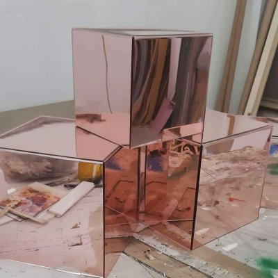 Cubi in plexiglass rosè