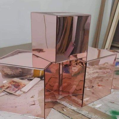 Cubi in plexiglass rosè