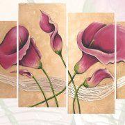 quadri moderni floreali con calle , dipinti a pezzi, quadri dipinti