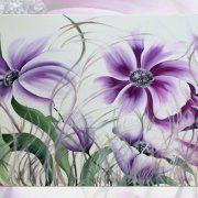 quadri moderni fiori, quadri fiori viola