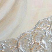 pittura materica foglia argento