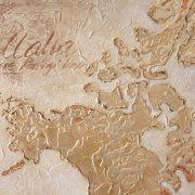 quadri astratti mappamondo