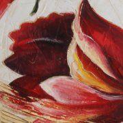 Quadri moderni fiori dipinti ad olio Spedizione gratuit