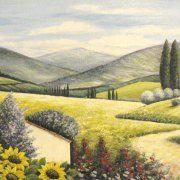 quadri paesaggi girasoli