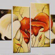 Quadro fiori moderno a pezzi