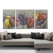 quadri floreali moderni, quadri tulipani