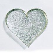 plexi glitter argento