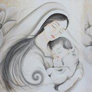 quadri moderni sacra famiglia madonna