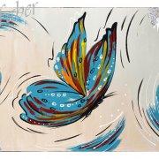 Quadri astratti moderni butterfly