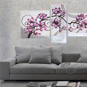 quadri moderni a pezzi con fiori