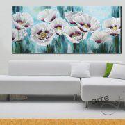 quadri moderni con fiori dipinti papaveri